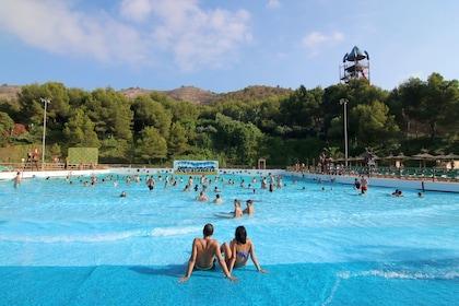 Wave pool at Aqualandia in Benidorm