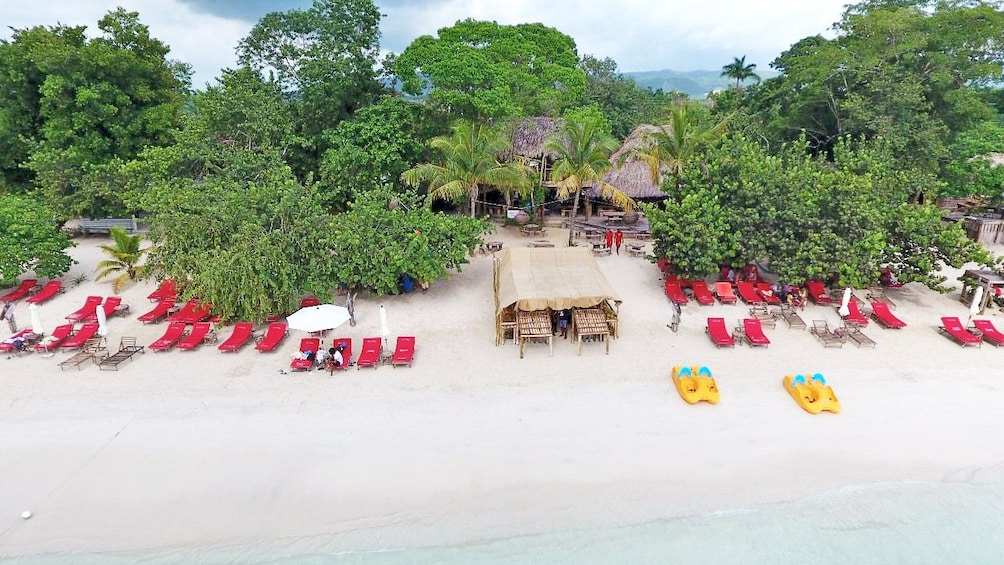 Show item 2 of 10. Aerial view of the white sandy beaches of Negril