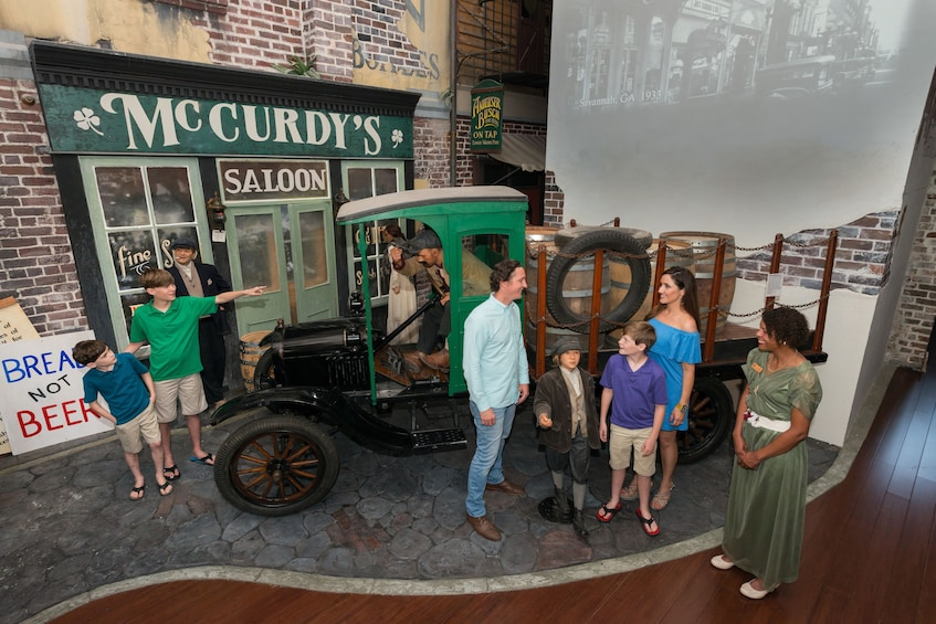 Show item 1 of 6. Tourists inside the American Prohibition Museum in Savannah