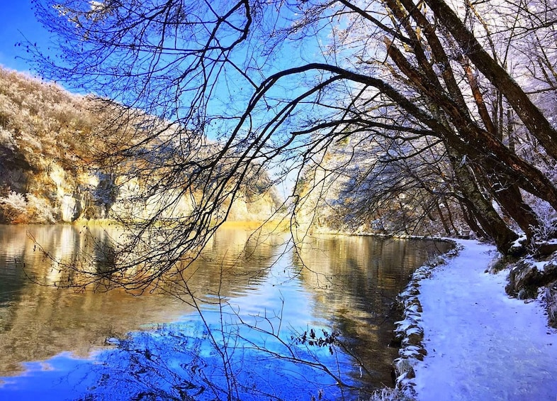 Show item 3 of 5. Plitvice lakes in winter