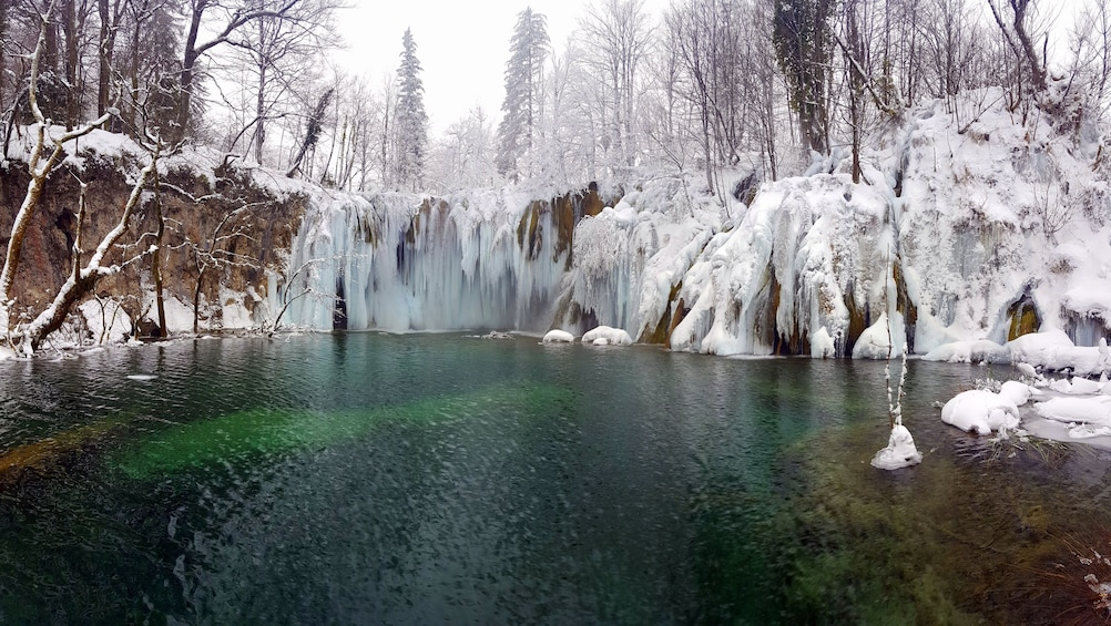 Show item 5 of 5. Plitvice lakes in winter