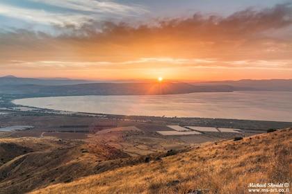 Sunset on sea of Galilee