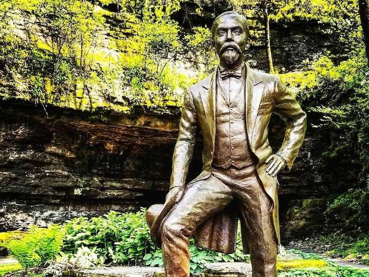 Show item 1 of 2. Statue of Jack Daniels