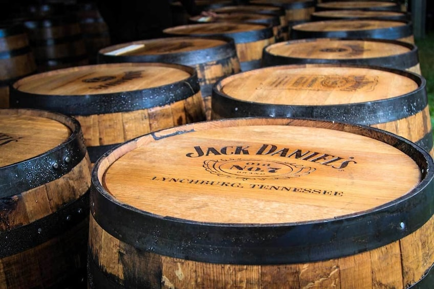 Show item 2 of 2. Barrels of Jack Daniels whisky