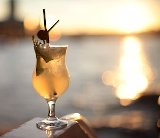 A cocktail at dusk