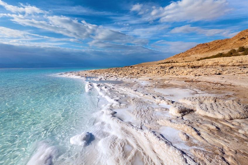 Coastline of the Dead Sea in Jerusalem