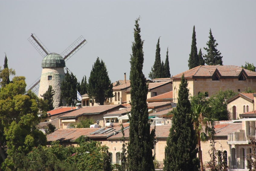 Buildings and windmill in Jerusalem