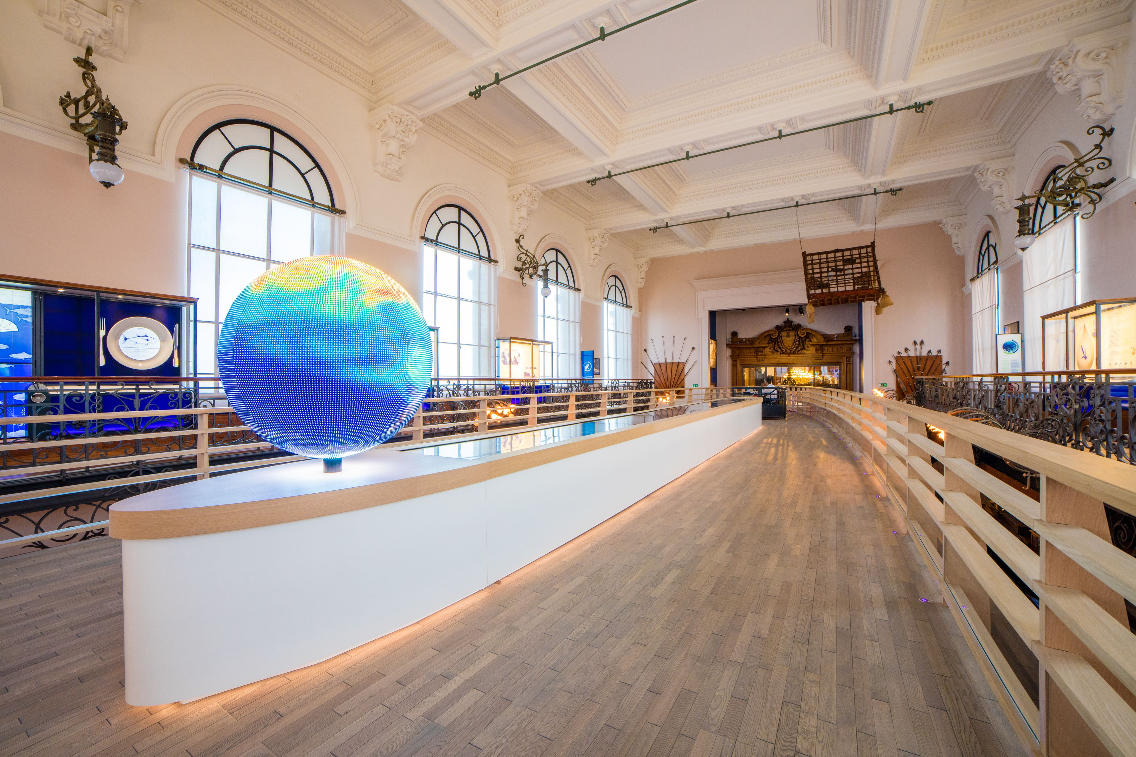 Inside the Oceanographic Museum in Monaco