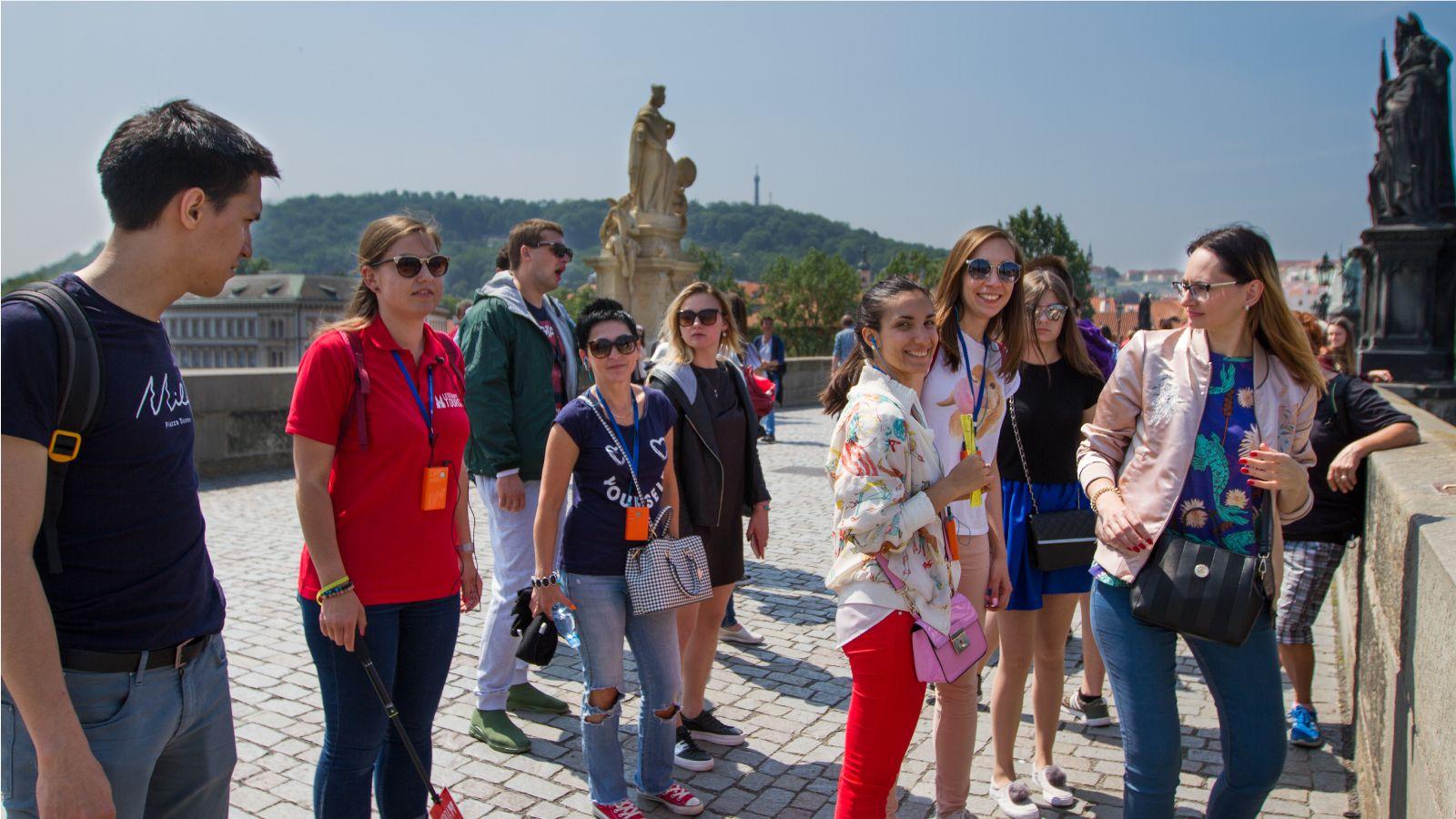 Tour group in Prague