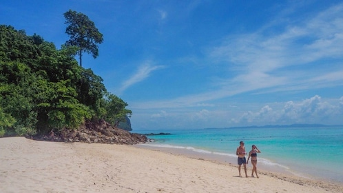 Two people on a Phuket Island beach