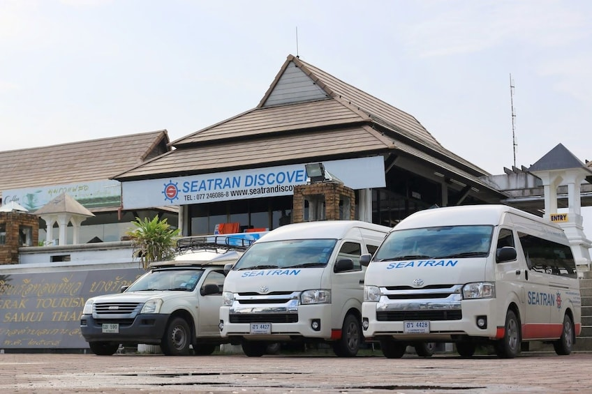 Show item 1 of 7. Seatran vans in front of Seatran offices in Thailand