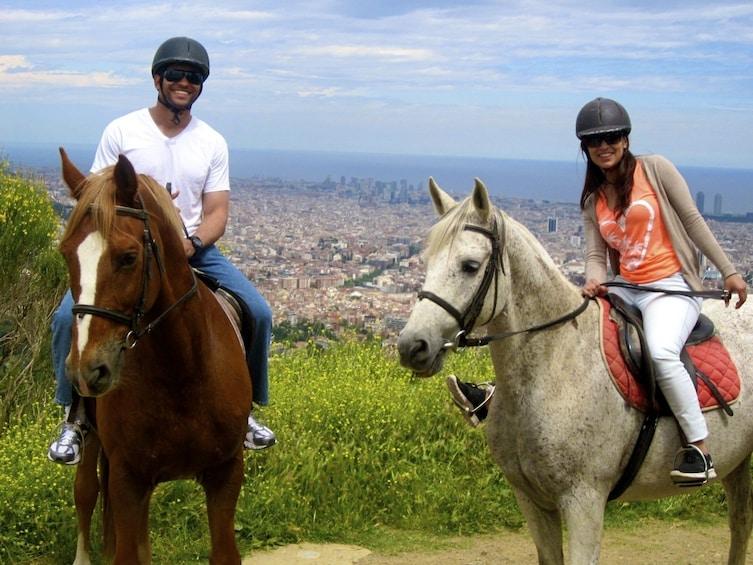 Show item 3 of 5. Horse Riding Tour in Natural Park + Wine Tasting in Penedès