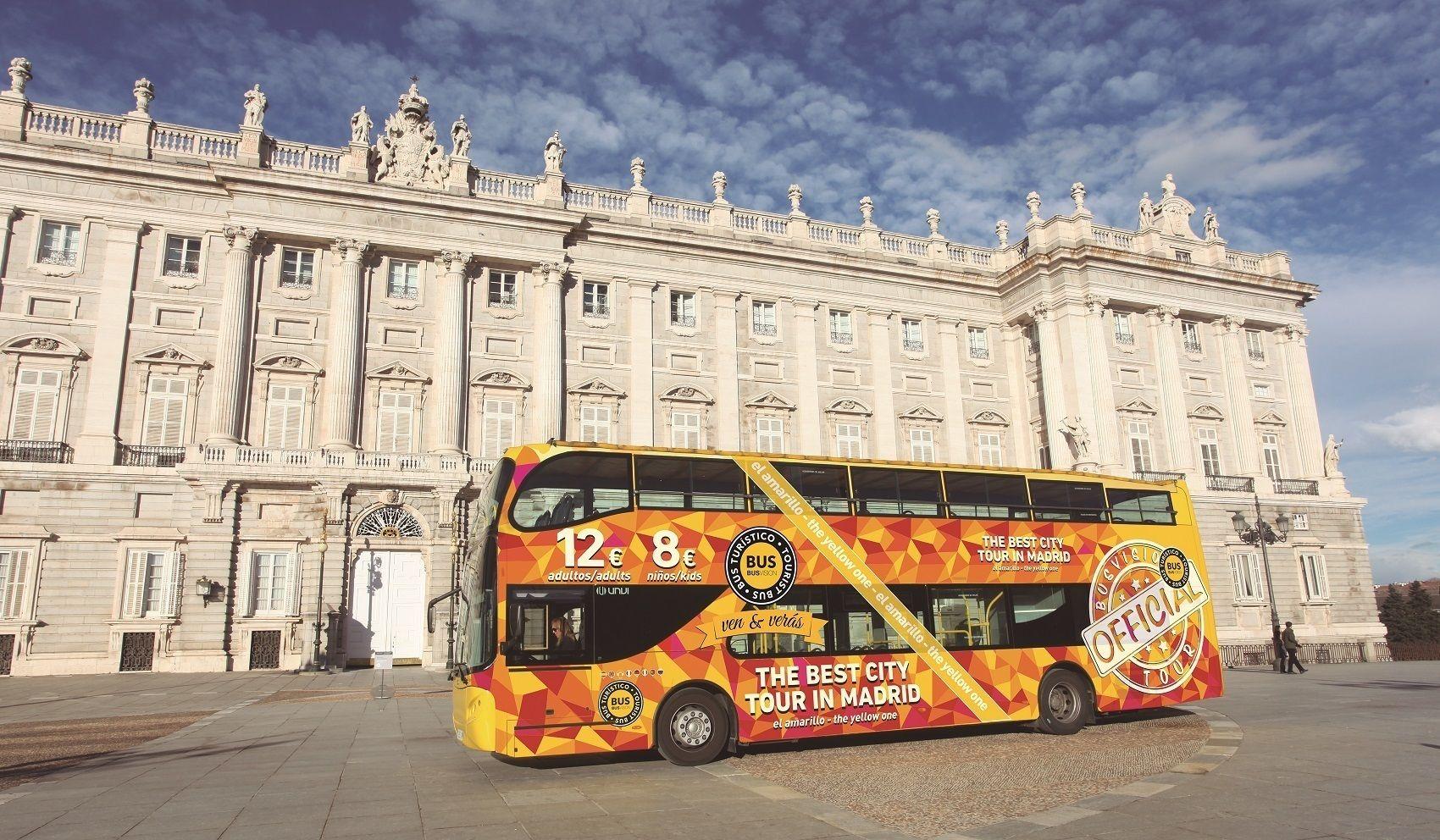 Visite de Madrid en bus à impériale