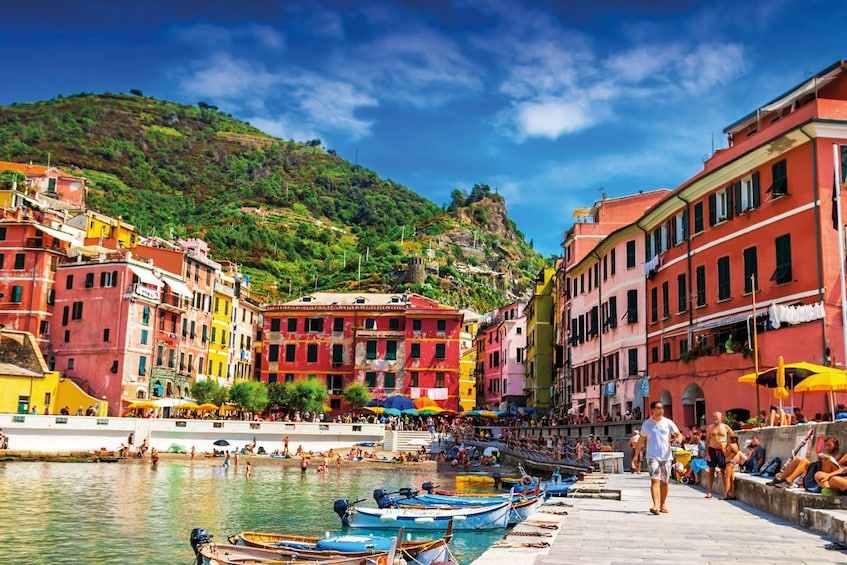 Show item 1 of 9. Vibrant day view of Vernazza