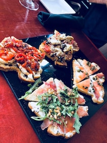 A variety of toasts served at a restaurant in Flagstaff