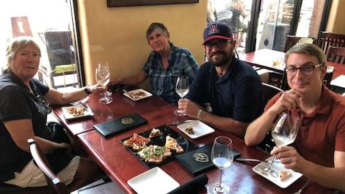 Group enjoying food in Flagstaff