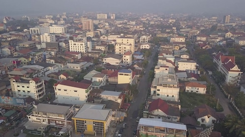 Aerial view of the city in Vientiane