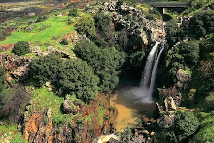 Countryside waterfall in Golan Heights