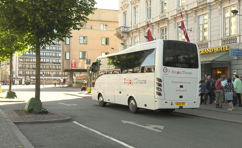 Tour bus in Denmark