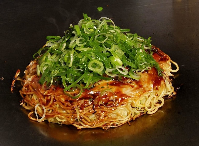 Show item 3 of 9. Noodle dish in Hiroshima