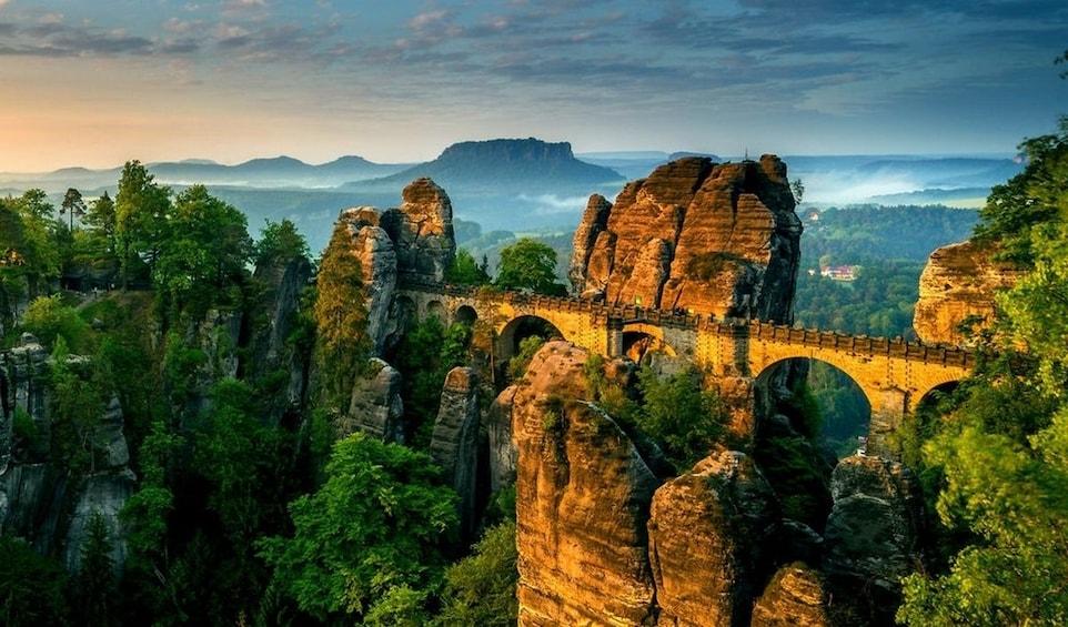 Show item 4 of 4. The Bastei Bridge in the mountains of Switzerland