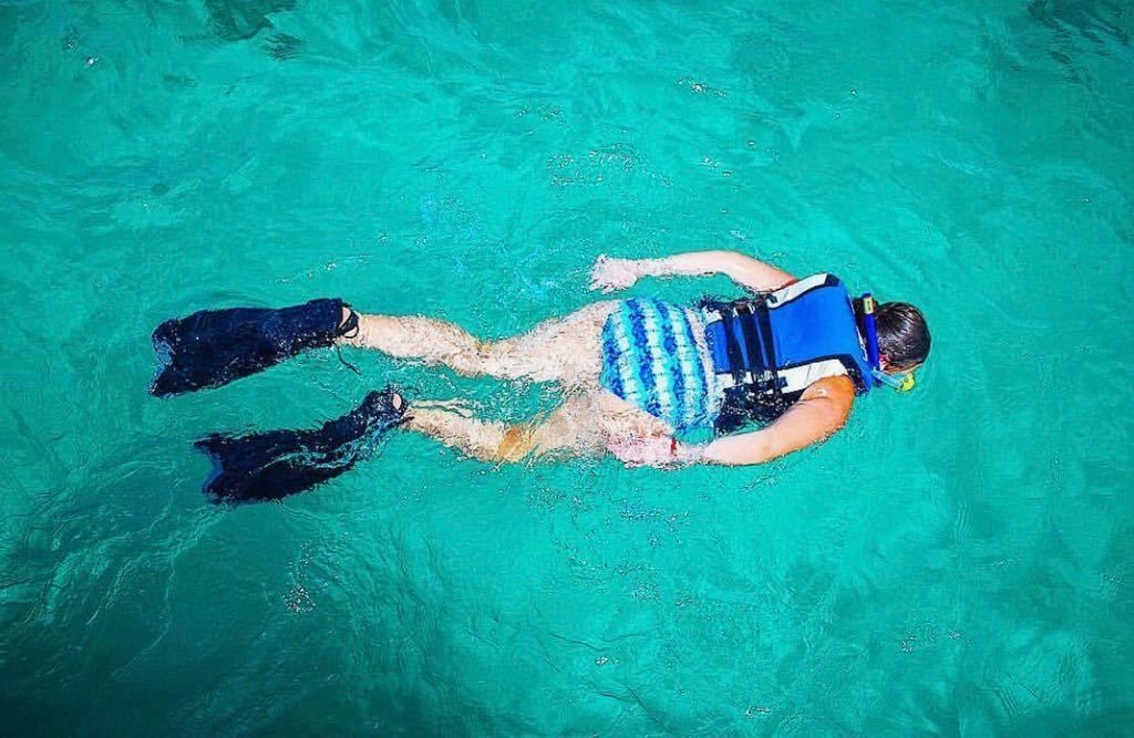 Woman snorkeling in Punta Cana