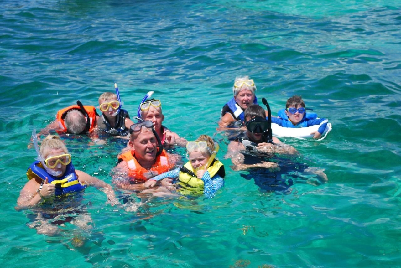 Group snorkeling activity in Punta Cana