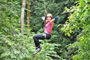 Full-Day Canyoning, Rappel & Canopy Tour from San Jose