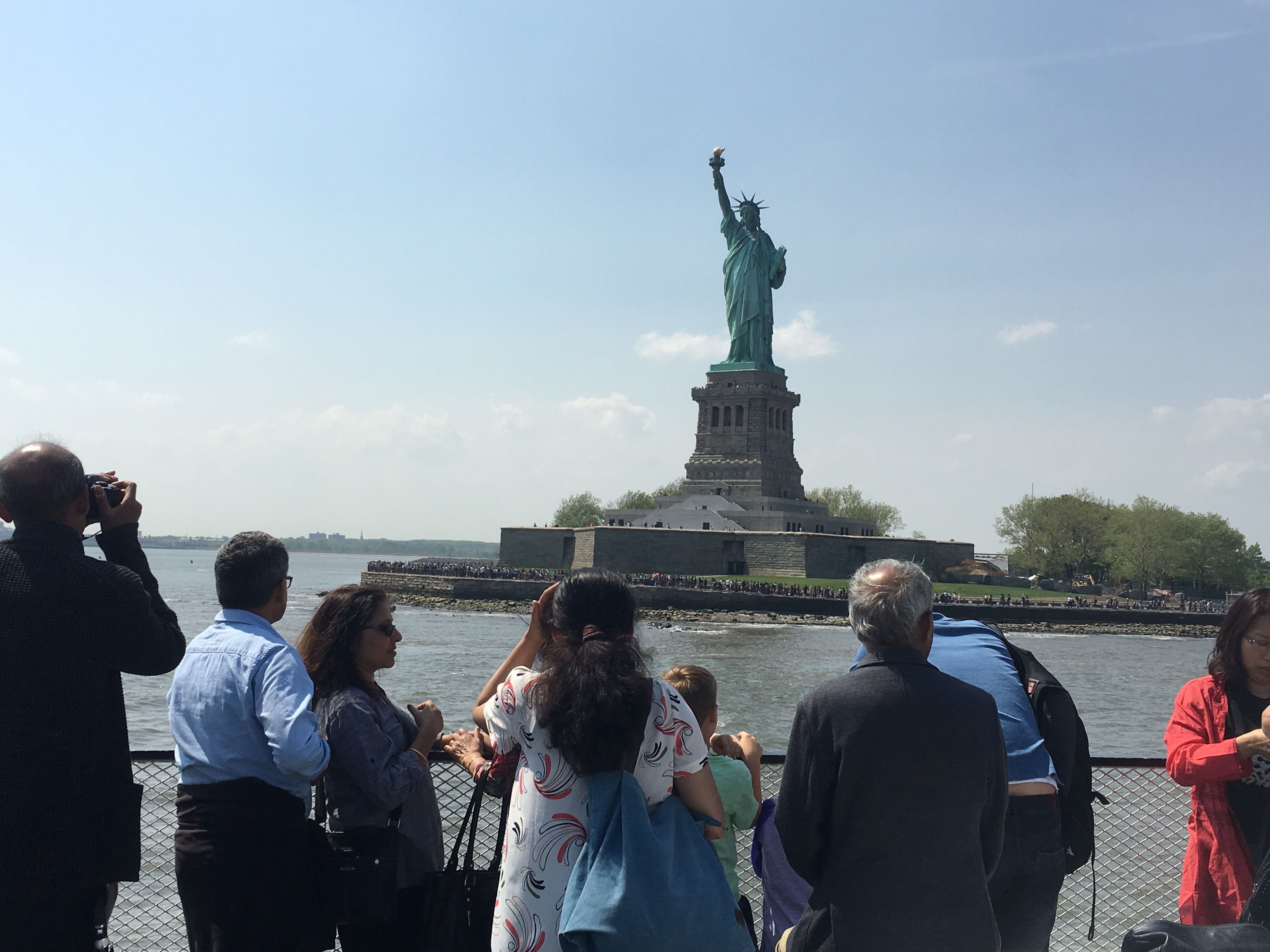 Boat tour next to Statue of Liberty