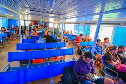 Guests aboard the Seatran Discovery Ferry
