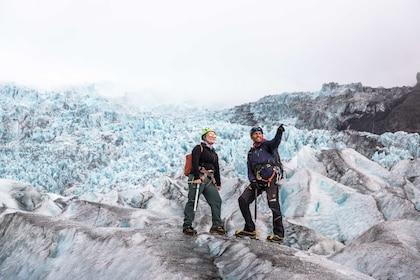 Two people on Glacier Hiking Adventure from Skaftafel