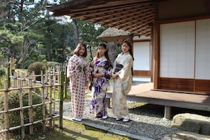 Japanese culture experience in Kimono and Walking Tour