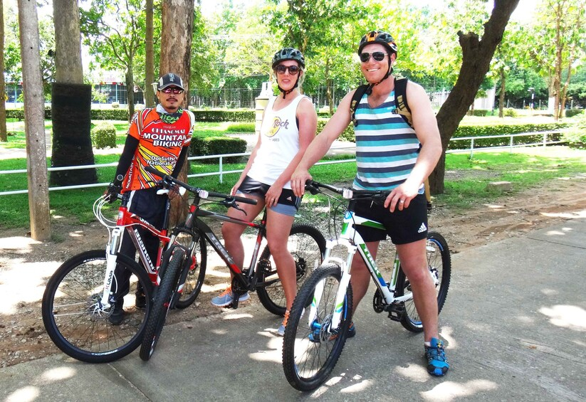 Show item 1 of 2. Bicycling group in Mae Ping Valley
