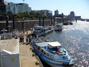 Ships at the Port of Hamburg