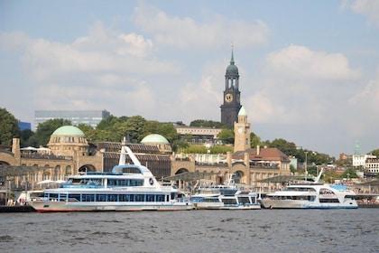 Port views in Hamburg