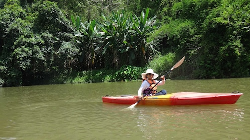 Kayaker on river in Chiang Mai