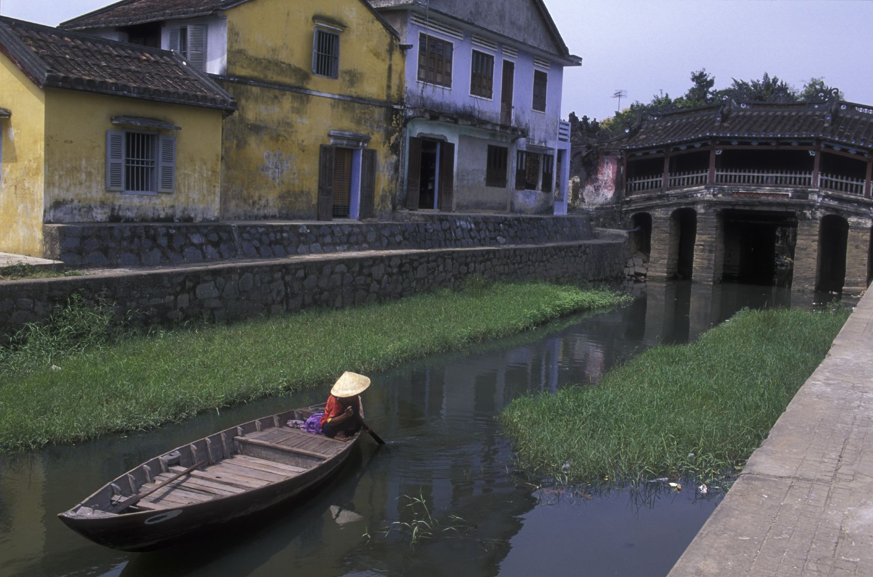 Boat in a canal in Hoi An