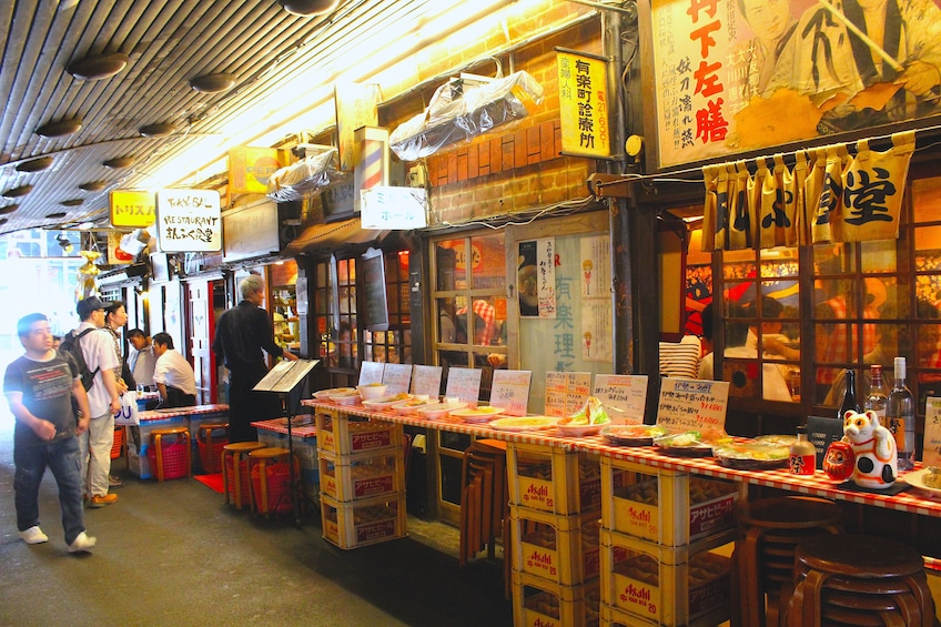 Local eateries in Ginza