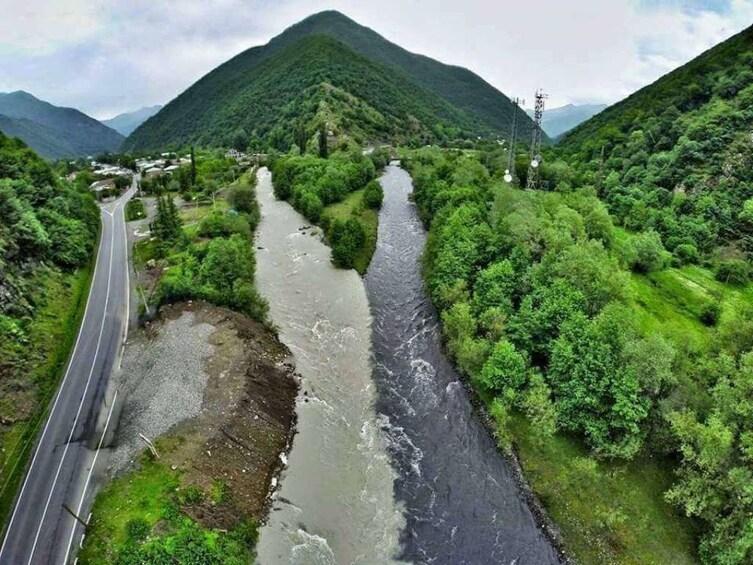 Aragvi River in Georgia