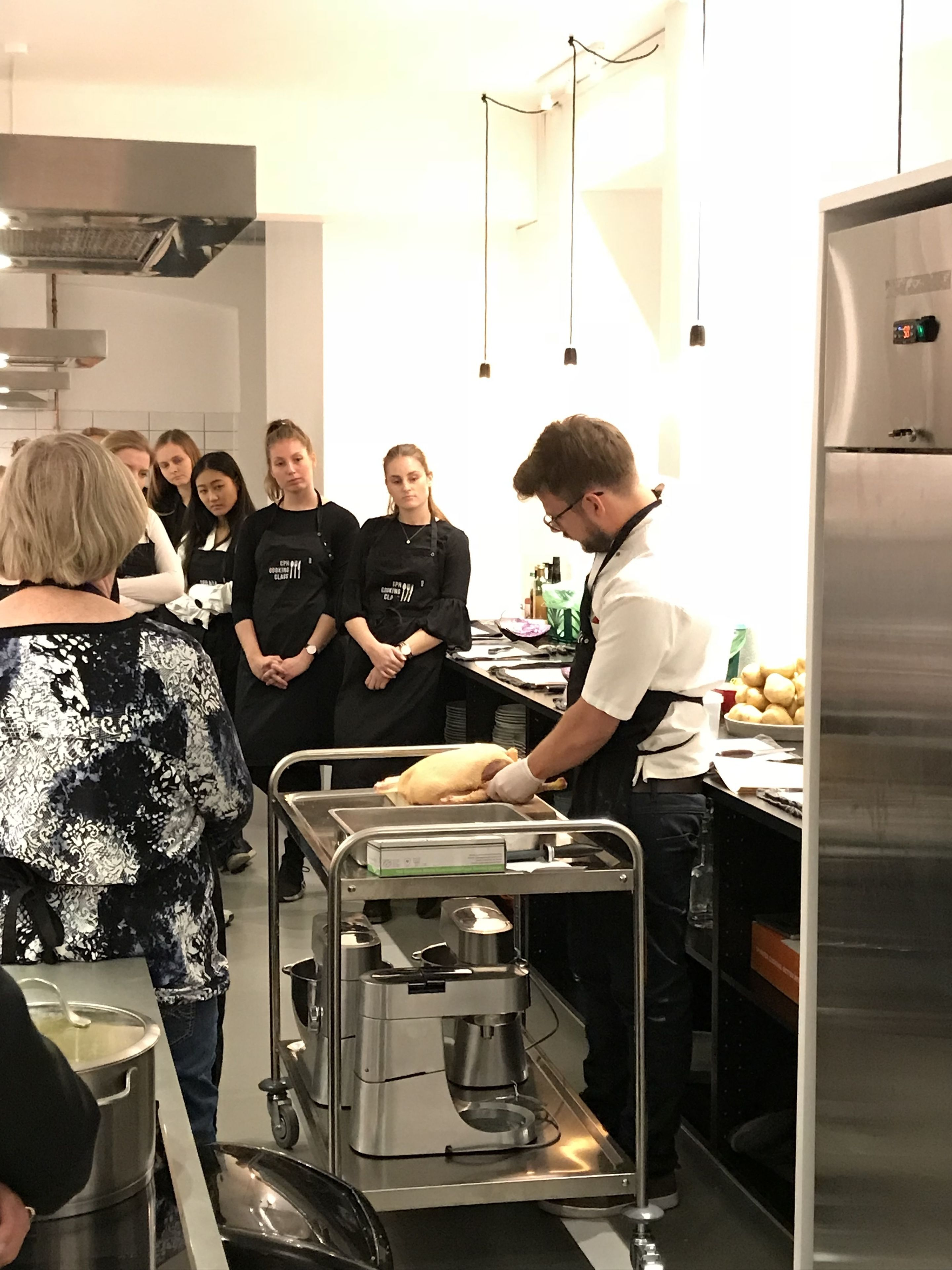 Nordic dinner cooking class in a kitchen