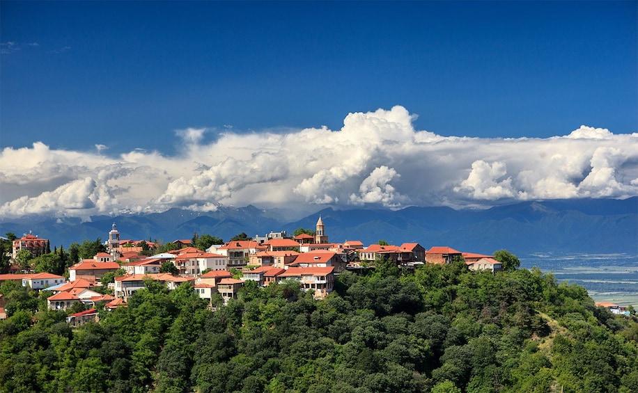 Show item 1 of 4. Mountain-top town of Signagi in Georgia