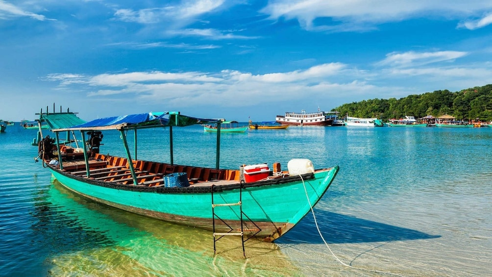 Show item 10 of 10. Wooden boat in Sihanoukville