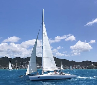 Trimaran sailboat in St Barthelemy