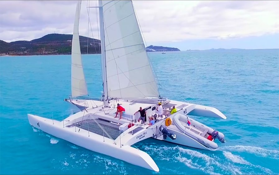 Show item 1 of 9. Trimaran sailboat in St Barthelemy
