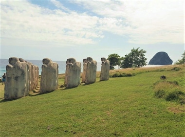 Sculptures that make up the Anse Cafard Slave Memorial in Martinique