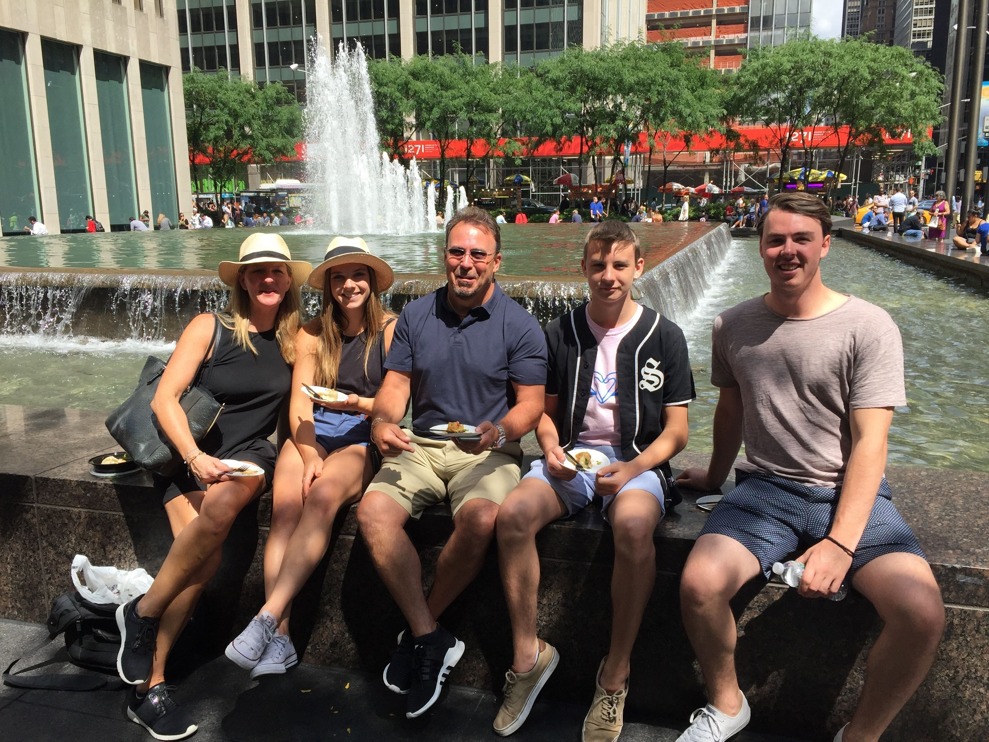 Tour group in New York