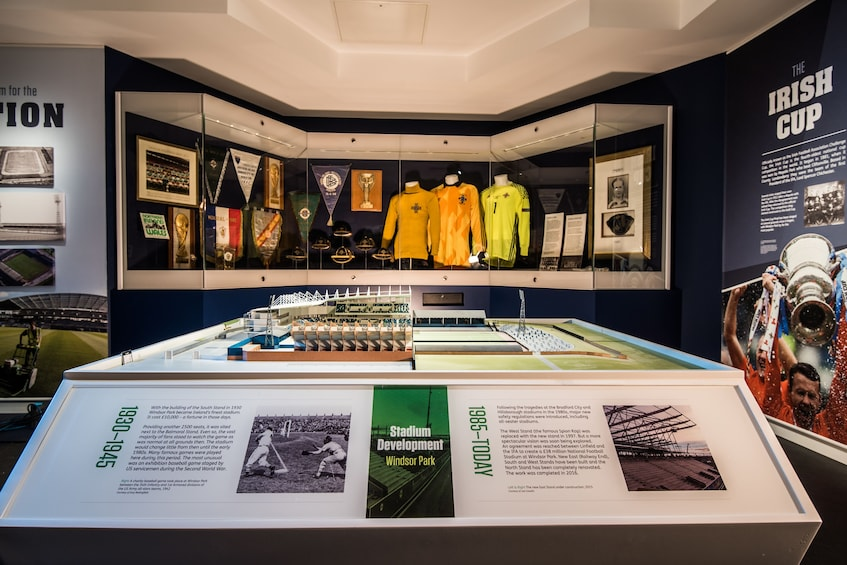 Show item 2 of 4. Exhibit inside the National Football Stadium at Windsor Park