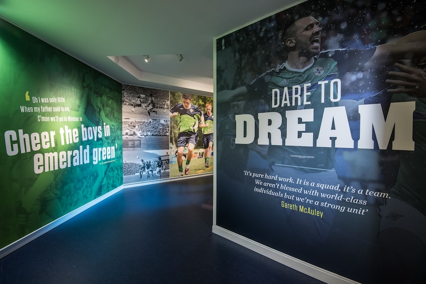 Show item 1 of 4. Walls at National Football Stadium at Windsor Park
