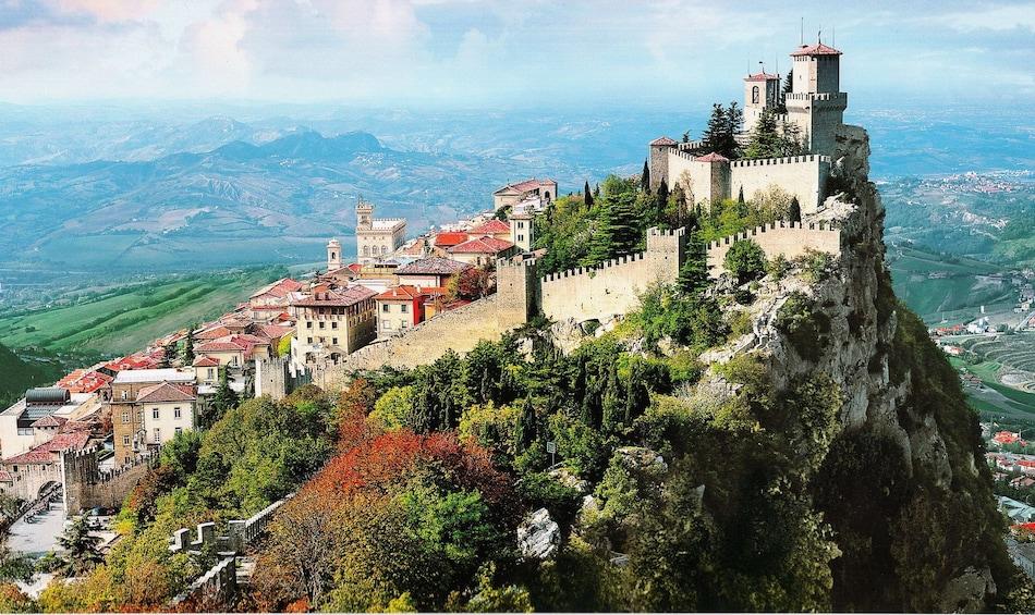 Mountain-top town of San Marino