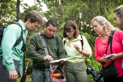 Tour group at Manuel Antonio National Park in Costa Rica